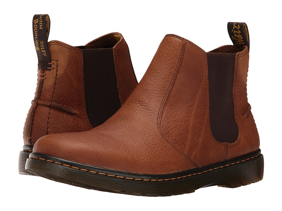 Dr. Martens - Lyme Chelsea Boot (Tan Grizzly) Men's Pull-on Boots
