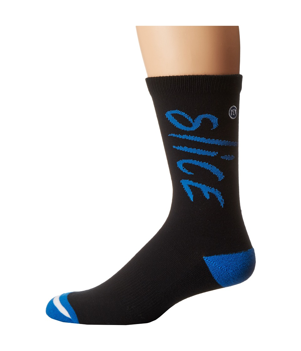 TravisMathew - Hook N' Slice Socks (Black) Men's Crew Cut Socks Shoes
