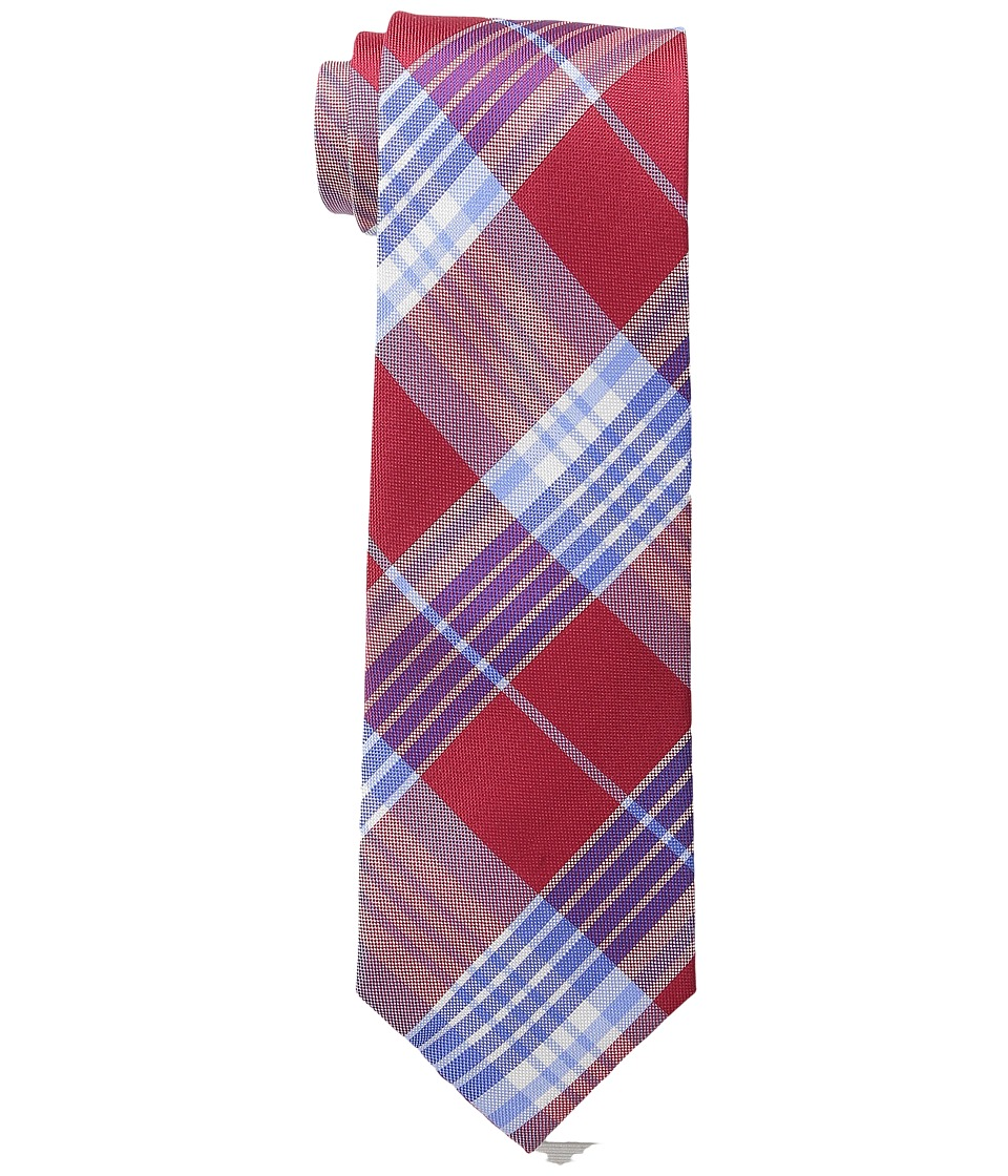 Tommy Hilfiger - Big Twill Plaid (Red) Ties