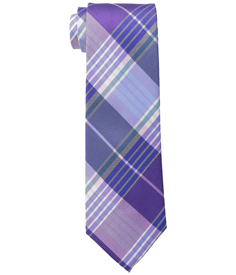 Tommy Hilfiger - Big Twill Plaid (Purple) Ties