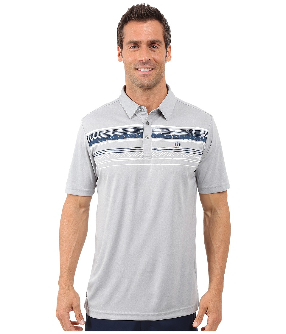 TravisMathew - Snapper Polo (Lunar Rock Griffin) Men's Short Sleeve Pullover