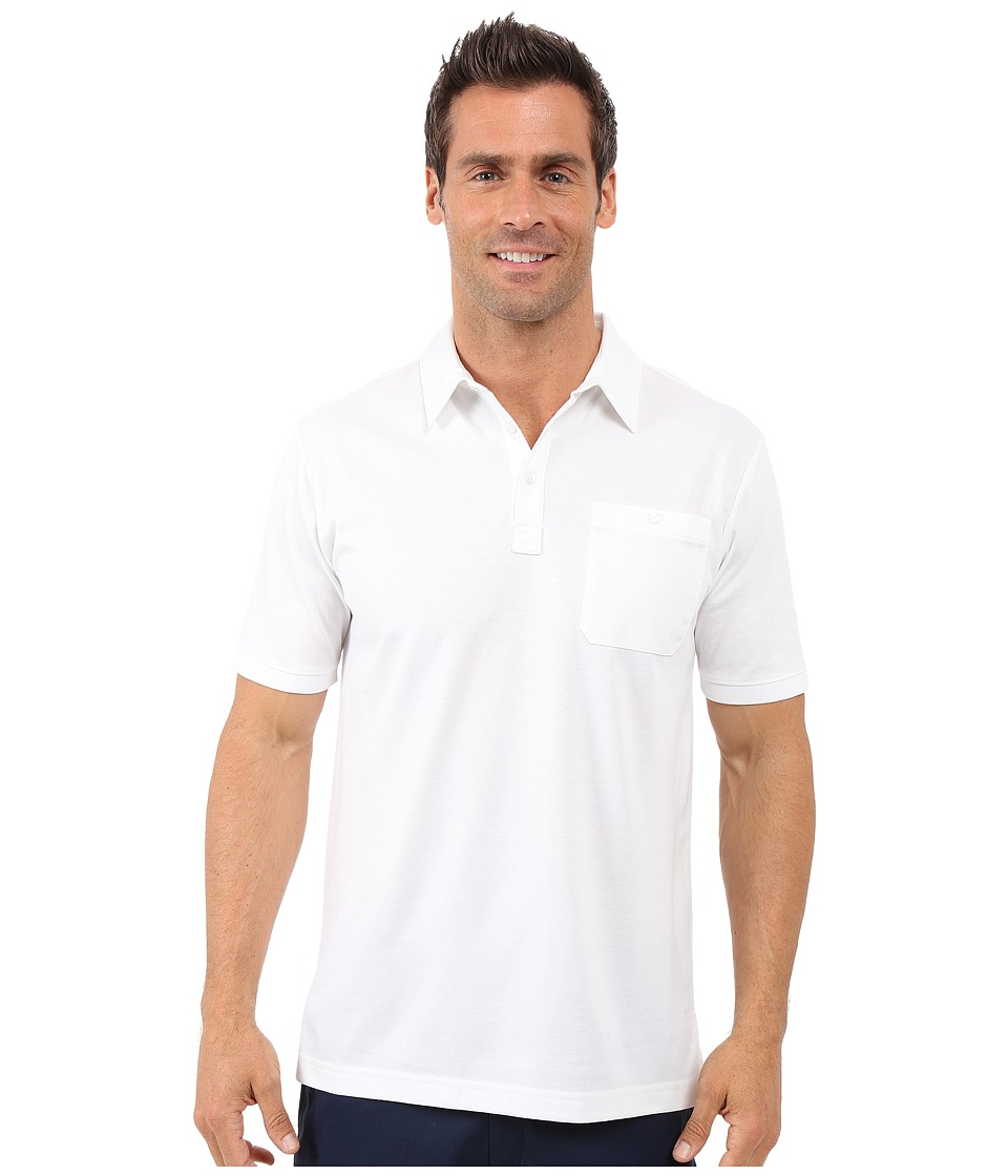 TravisMathew - Alvin Polo (White) Men's Short Sleeve Pullover