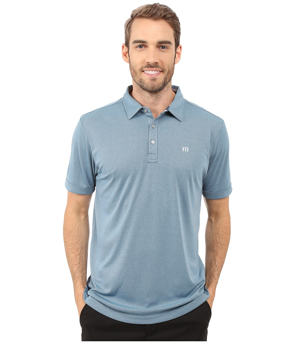 TravisMathew - Beachcomber Polo (Heather Blue Grotto) Men's Short Sleeve Knit