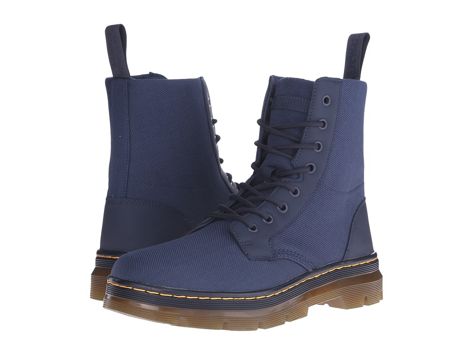 Dr. Martens - Combs Fold Down Boot (Navy Extra Tough Nylon/Rubbery) Lace-up Boots