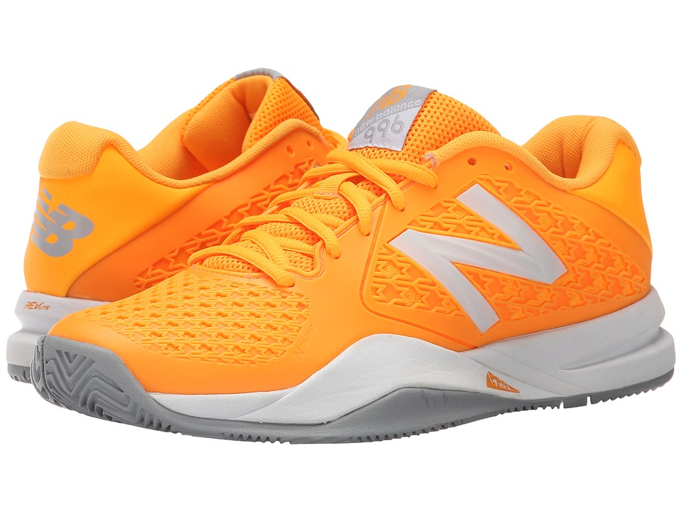New Balance - WC996v2 (Orange/Grey) Women's Tennis Shoes