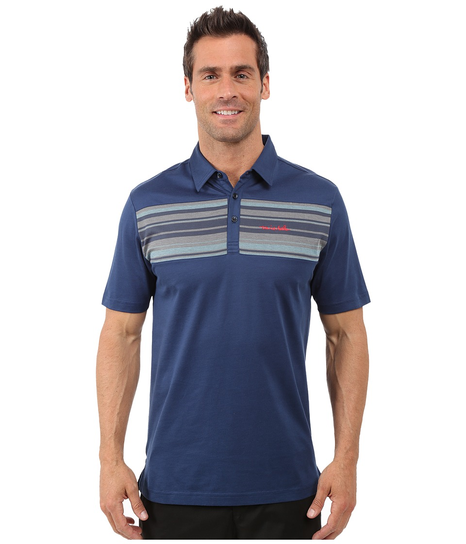 TravisMathew - Chase Polo (Insignia Blue) Men's Short Sleeve Pullover