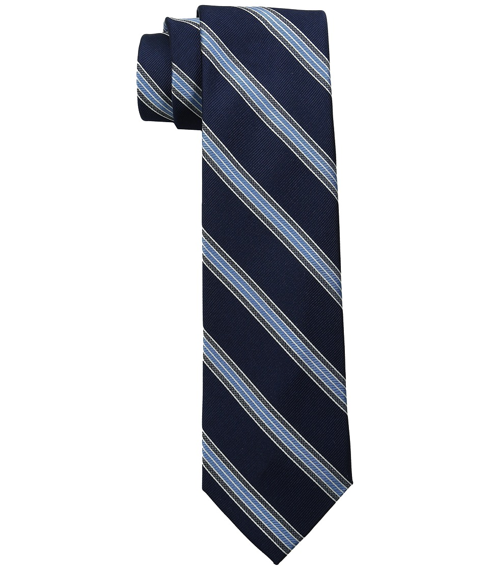 Tommy Hilfiger - Ribbon Stripe (Navy) Ties