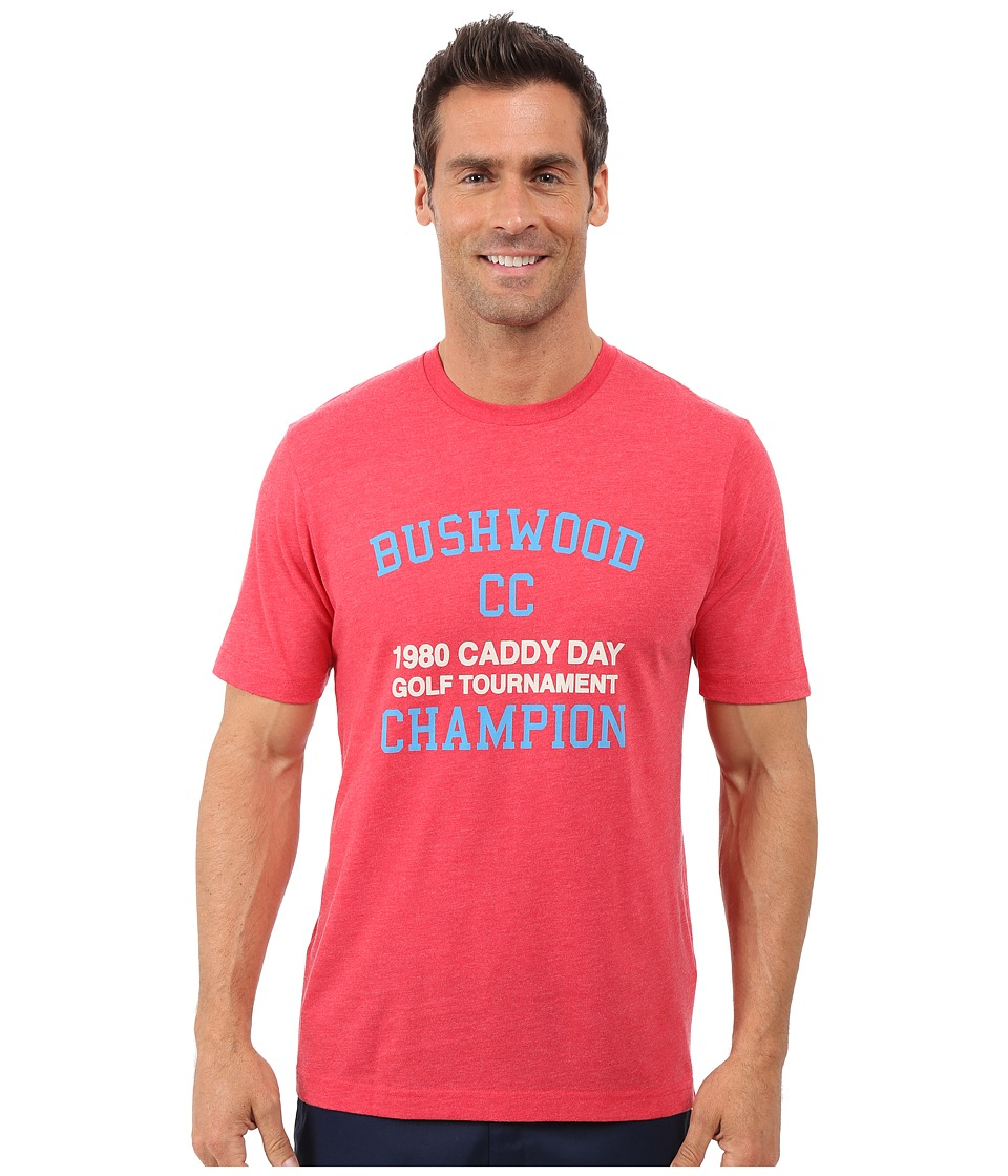 TravisMathew - Caddy Day Tee (Heather Red) Men's T Shirt