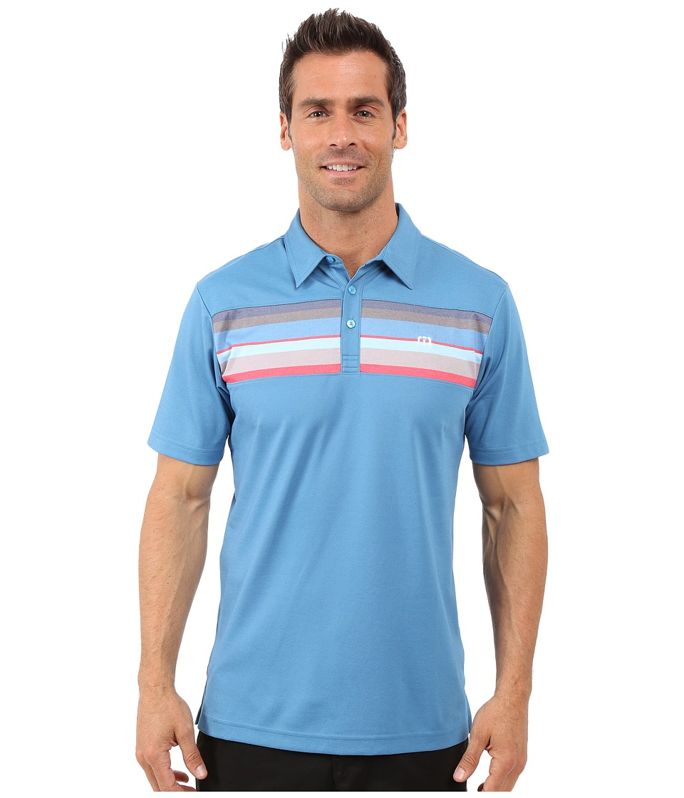 TravisMathew - Little Polo (Deep Water Blue Grotto) Men's T Shirt