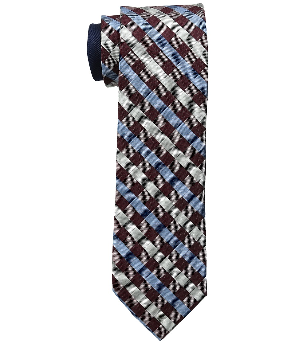 Tommy Hilfiger - SS Gingham (Burgundy) Ties