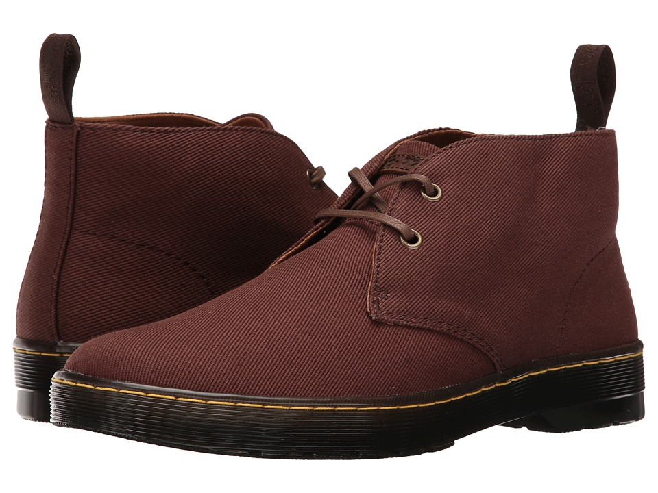 Dr. Martens - Mayport 2-Eye Desert Boot (Dark Brown Overdyed Twill Canvas) Men's Lace-up Boots