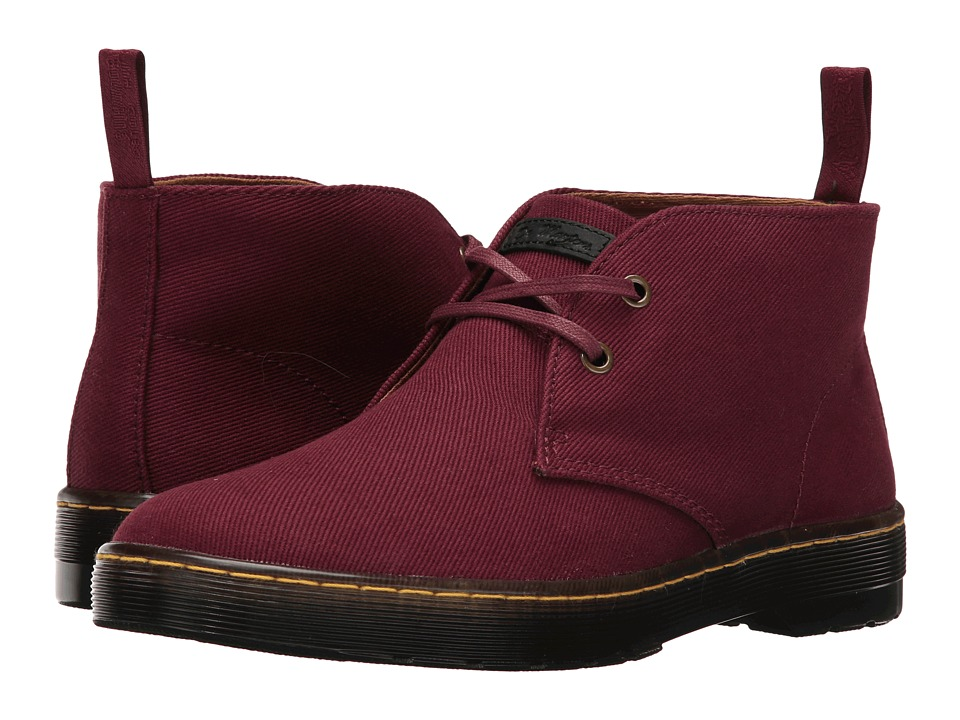 Dr. Martens Mayport 2-Eye Desert Boot (Old Oxblood Overdyed Twill Canvas) Men