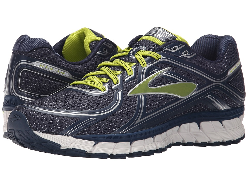 Brooks - Adrenaline GTS 16 (Dress Blue/Lime Punch/Silver) Men's Running Shoes
