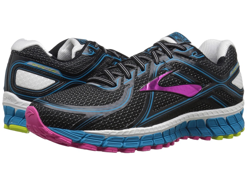 Brooks - Adrenaline GTS 16 (Black/AtomicBlue/LimePunch) Women's Running Shoes