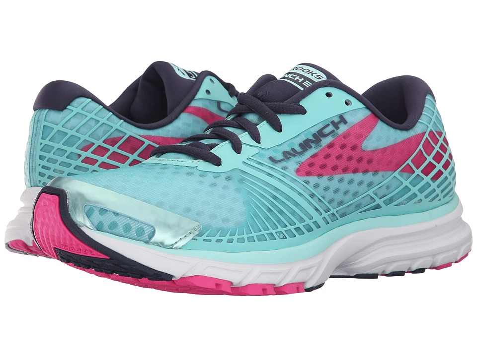 Brooks - Launch 3 (Blue Tint/Pink Glo/Peacoat) Women's Running Shoes