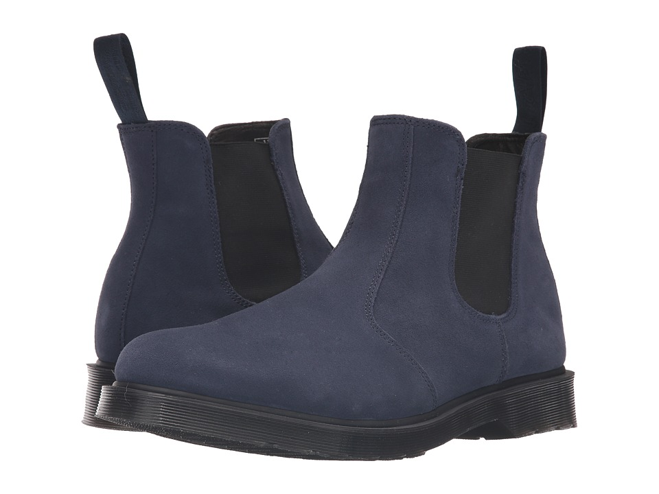 Dr. Martens - 2976 Chelsea Boot (Navy Hi Suede WP/Guesset Elastic) Men's Pull-on Boots