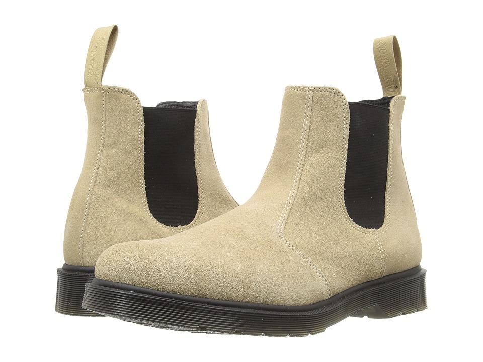 Dr. Martens - 2976 Chelsea Boot (Milkshake Hi Suede WP/Guesset Elastic) Men's Pull-on Boots