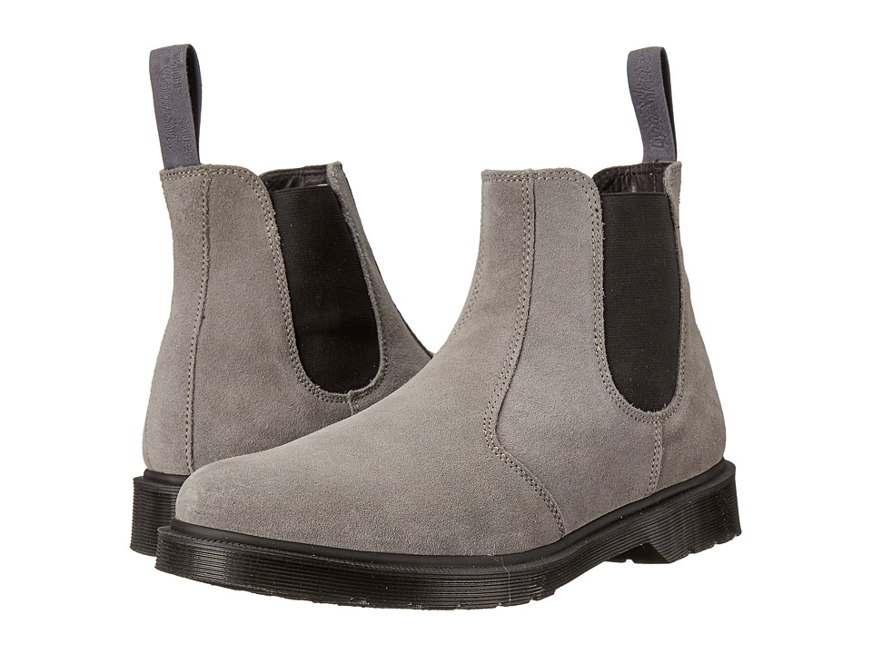 Dr. Martens - 2976 Chelsea Boot (Grey Mare Hi Suede WP/Guesset Elastic) Men's Pull-on Boots