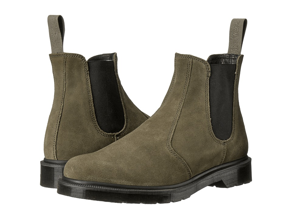 Dr. Martens - 2976 Chelsea Boot (Khaki Hi Suede WP/Guesset Elastic) Men's Pull-on Boots