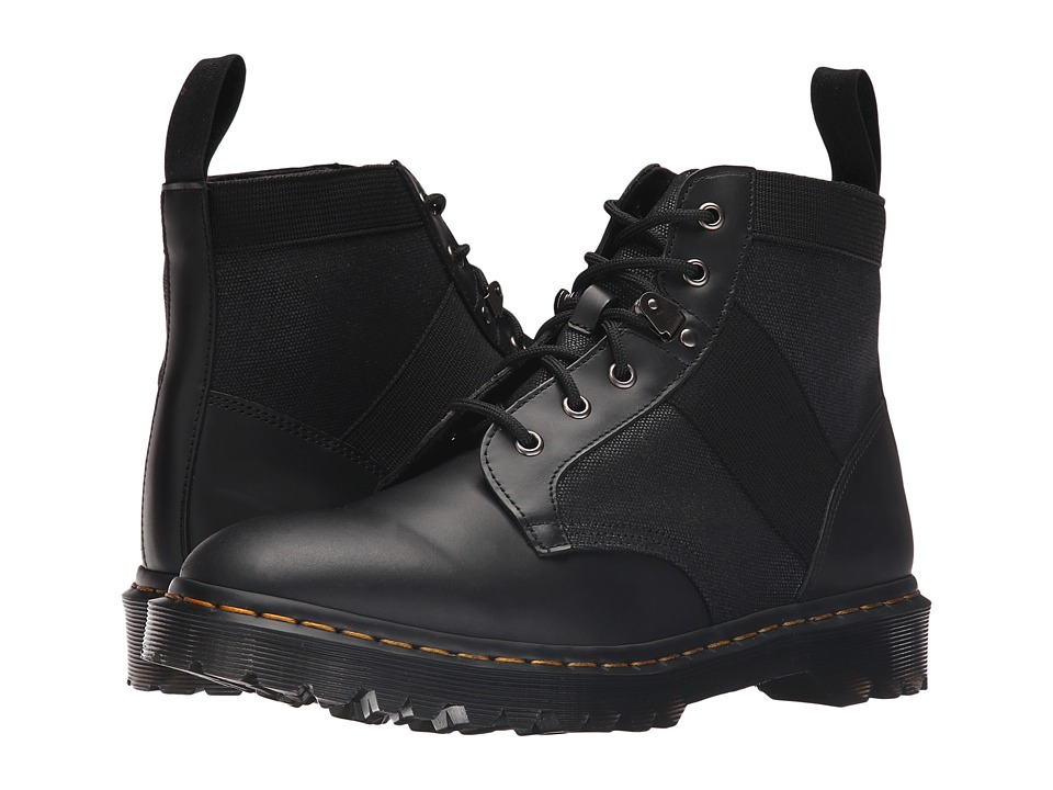 Dr. Martens - Beam 6-Tie Boot (Black Waxy Canvas/Finoil) Men