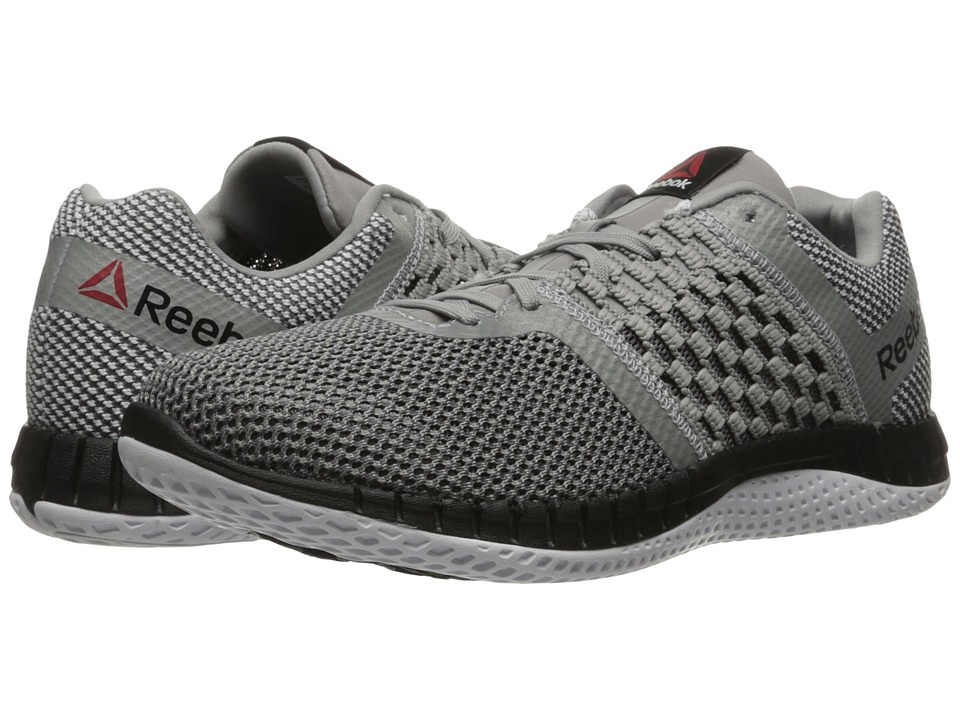 Reebok - ZPrint Run (Tin Grey/Shark/Silver Metallic/White/Black) Men's Running Shoes