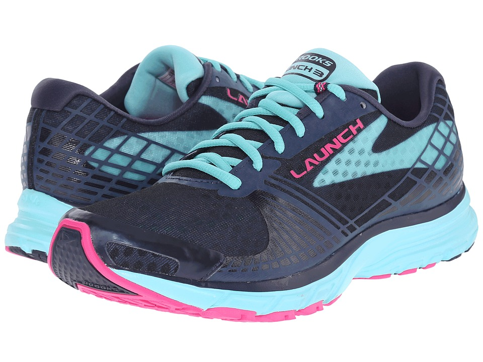 Brooks - Launch 3 (Peacoat/Blue Radiance/Pink Glo) Women's Running Shoes