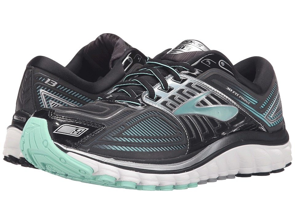Brooks - Glycerin 13 (Black/Anthracite/Ice Green) Women's Running Shoes