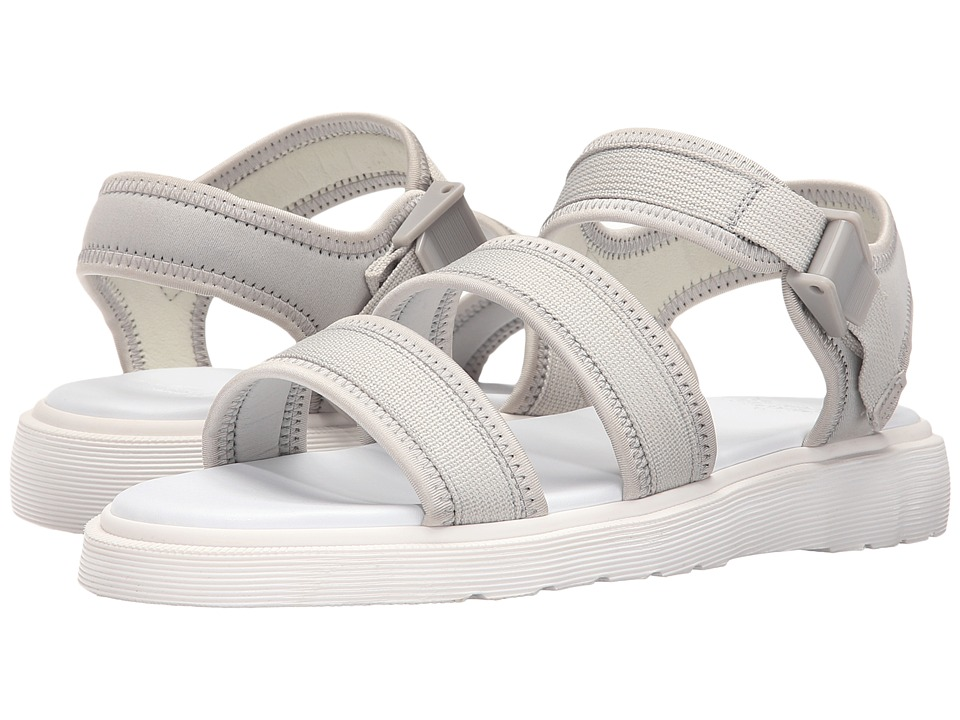 Dr. Martens - Effra Tech 2-Strap Sandal (Warm Grey Webbing/Neoprene) Men
