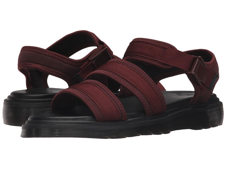 Dr. Martens Effra Tech 2-Strap Sandal (Oxblood Webbing/Neoprene) Men