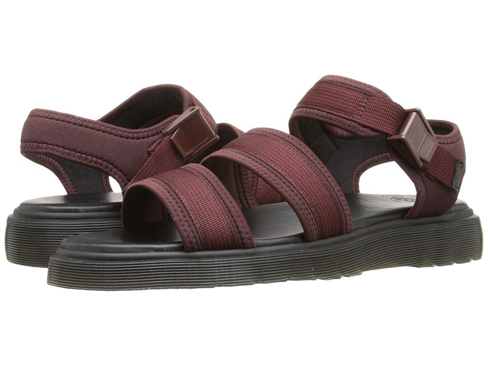 Dr. Martens - Effra Tech 2-Strap Sandal (Black Webbing/Neoprene) Men's Sandals