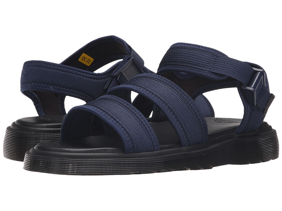 Dr. Martens - Effra Tech 2-Strap Sandal (Navy Webbing/Neoprene) Men's Sandals