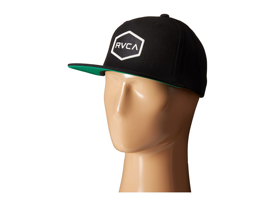RVCA - Commonwealth Snapback (Black/White) Baseball Caps