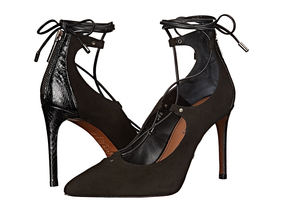 Donald J Pliner - Pella (Black Kid Suede) High Heels