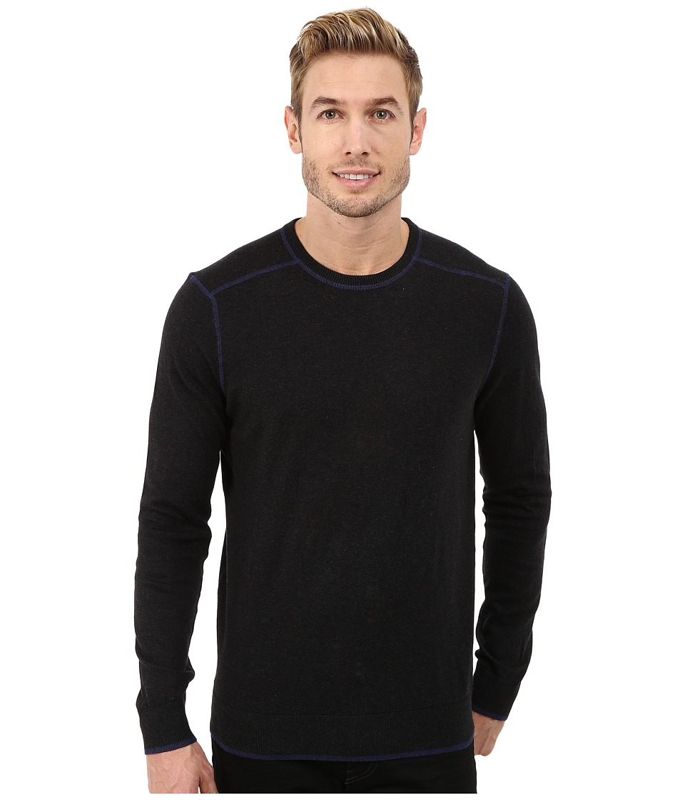 Agave Denim - Long Sleeve Crew Neck Fine Gauge (Caviar) Men's Long Sleeve Pullover