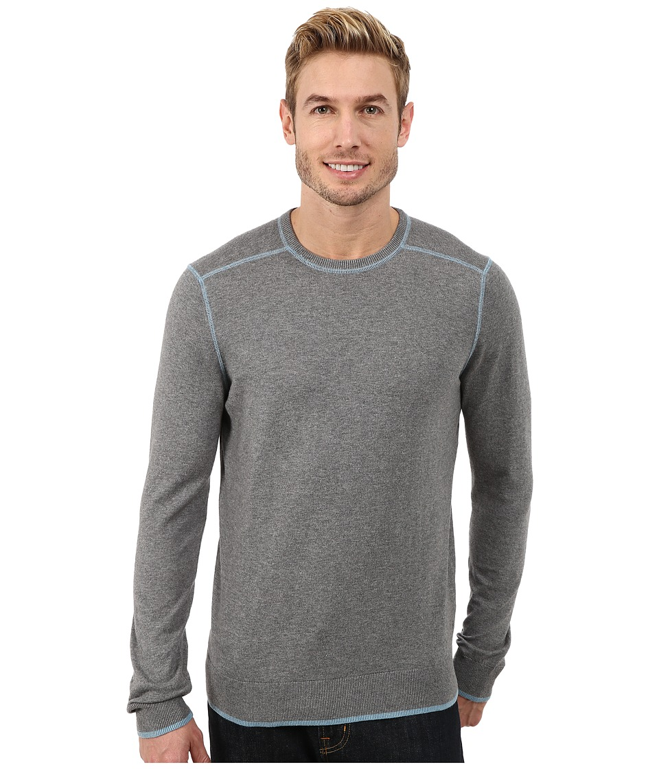 Agave Denim - Long Sleeve Crew Neck Fine Gauge (Medium Heather) Men's Long Sleeve Pullover