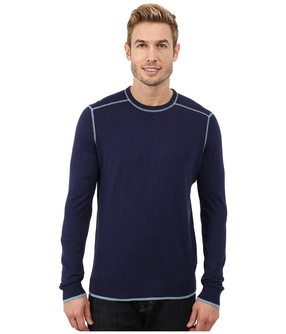 Agave Denim - Long Sleeve Crew Neck Fine Gauge (Medieval Blue) Men