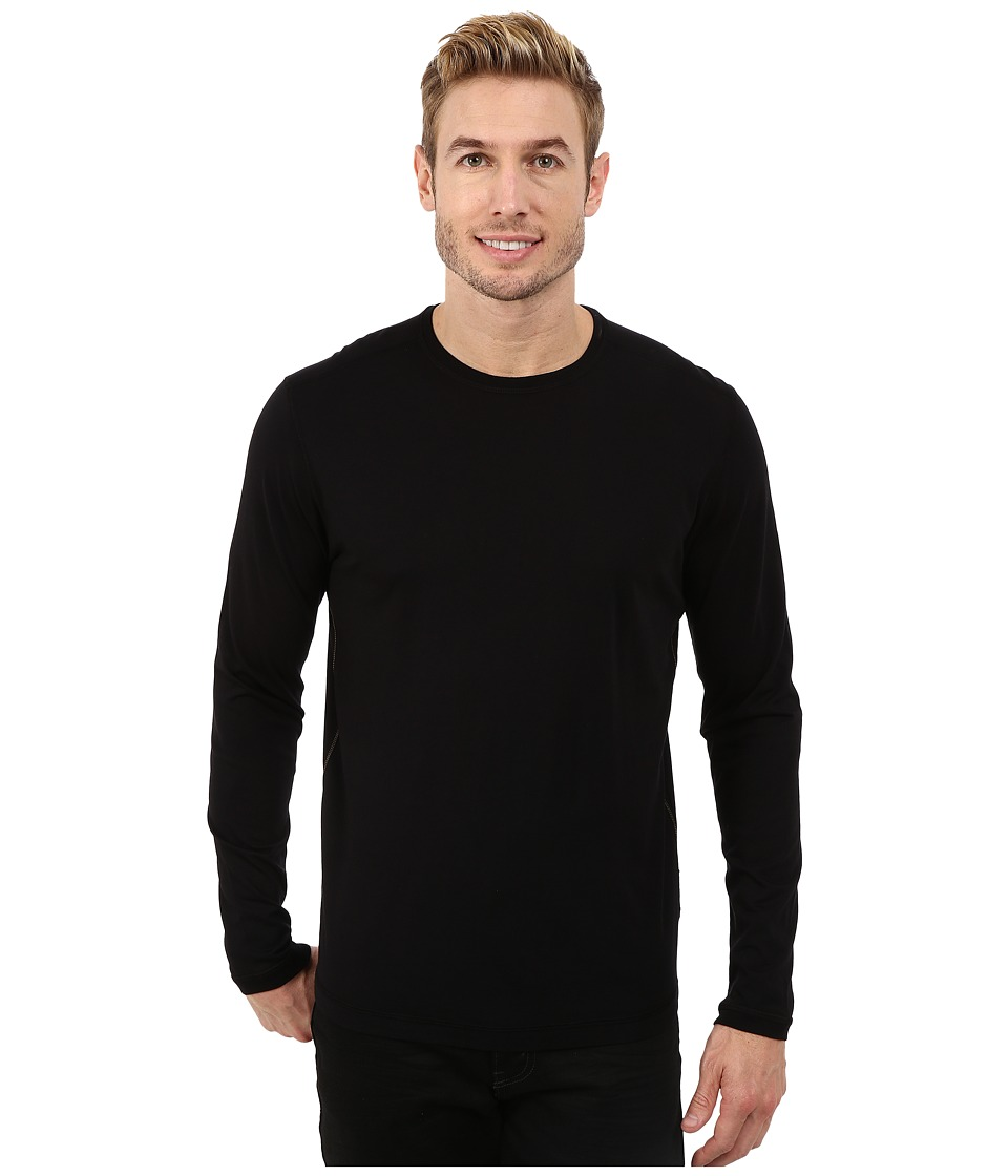 Agave Denim - Long Sleeve Crew Supma/Modal Blend (Caviar) Men's Long Sleeve Pullover