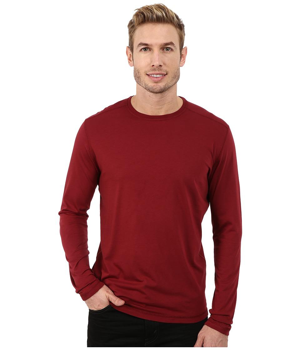 Agave Denim - Long Sleeve Crew Supma/Modal Blend (Cabernet) Men's Long Sleeve Pullover