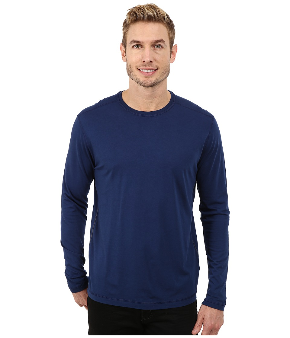 Agave Denim - Long Sleeve Crew Supma/Modal Blend (Medieval Blue) Men's Long Sleeve Pullover