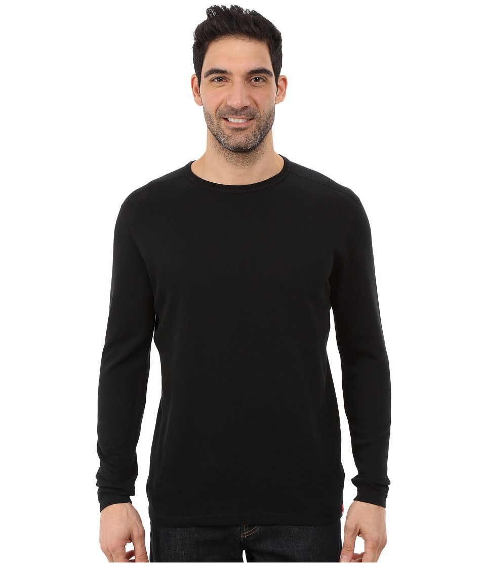 Agave Denim - Long Sleeve Crew Rib (Caviar) Men's Long Sleeve Pullover