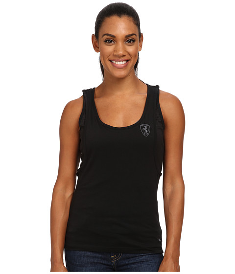 PUMA - Ferrari Long Tank Top (Black) Women's Sleeveless