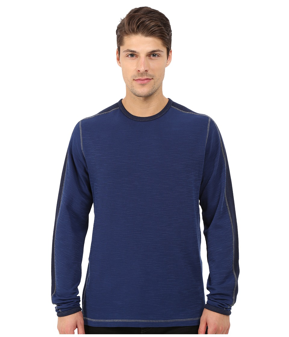 Agave Denim - Long Sleeve Crew Military Sleeve (Medieval Blue) Men's Long Sleeve Pullover