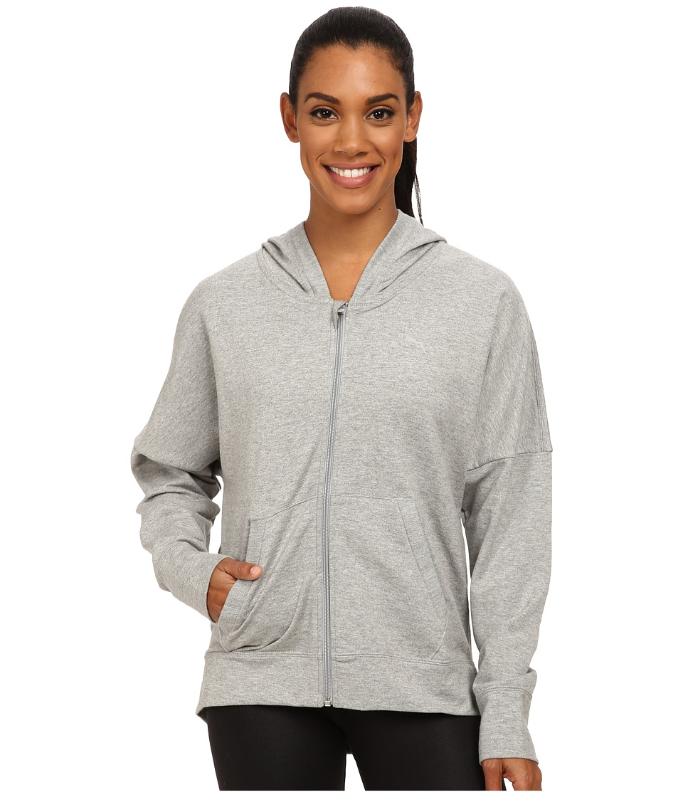 PUMA - Hooded FT Jacket (Athletic Grey Heather) Women's Sweatshirt