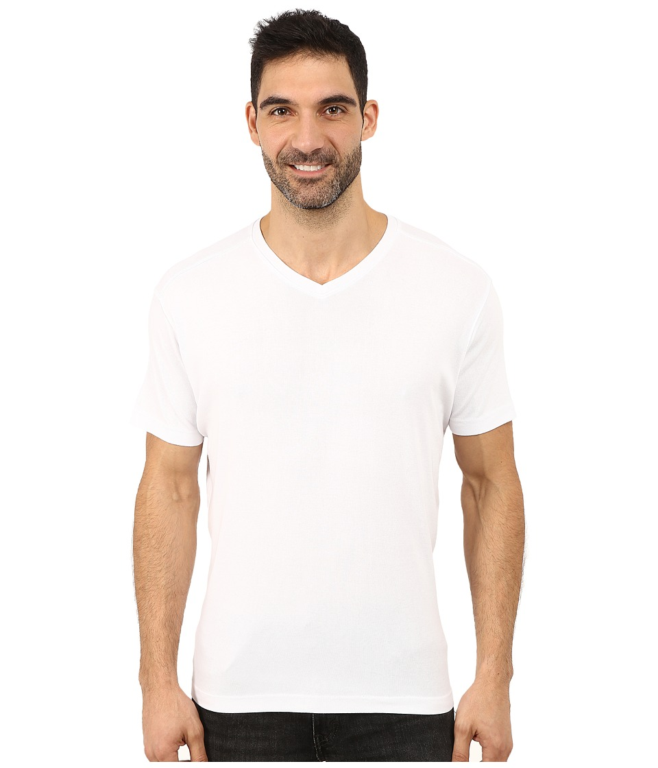 Agave Denim - Short Sleeve Supima Baby Rib (Bright White) Men's Short Sleeve Pullover