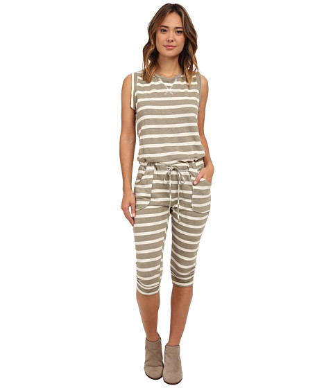 Culture Phit - Emilee Striped Jumper (Olive/Cream) Women's Jumpsuit & Rompers One Piece