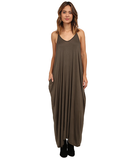 Culture Phit - Janie Pocketed Maxi Dress (Olive) Women's Dress