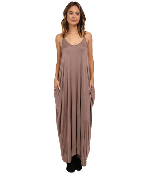 Culture Phit - Janie Pocketed Maxi Dress (Mocha) Women's Dress