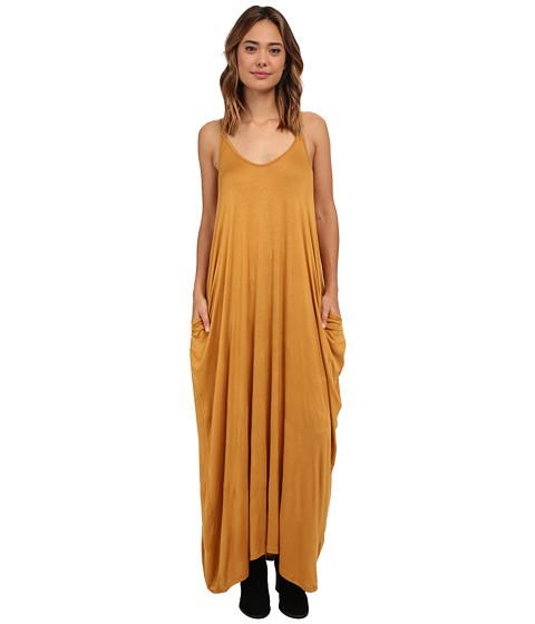 Culture Phit - Janie Pocketed Maxi Dress (Mustard) Women
