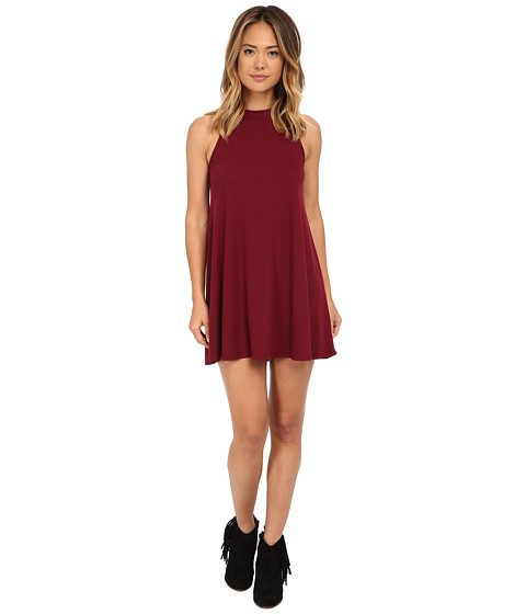 Culture Phit - Amyah Sleeveless Ribbed Dress (Wine) Women