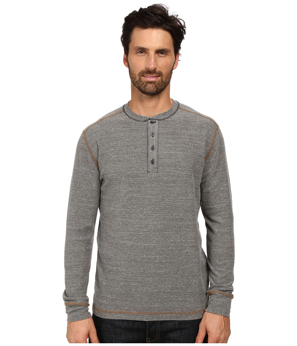 Agave Denim - Long Sleeve Henley Canvas (Egret) Men's Long Sleeve Pullover